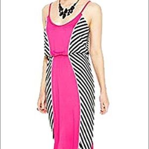 Bar III Pink Striped Maxi Dress sz M